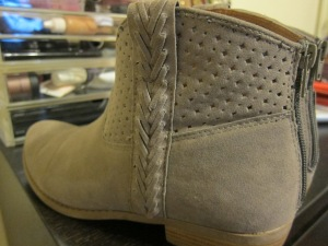 Close-up of the booties details.