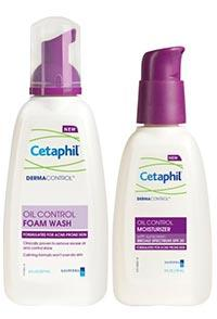 Cetaphil Derma Control Foam Wash and SPF Moisturizer