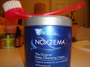 Noxema  Original Cleansing Cream & Sephora Face Brush
