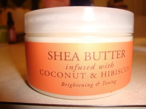 Shea Butter infused with Coconut & Hibiscus- Brightening and Toning