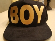 "Gold ""Boy"" Logo Snap Back-Boy London"