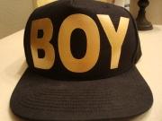 "Gold ""Boy"" Logo Snap Back-Boy London"