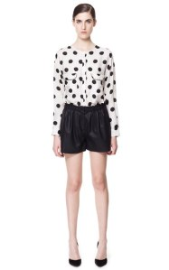 Leather Effect Shorts- Zara $60