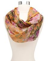 Garden Floral Infinity Scarf-Charlotte Russe $9.99