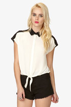 Black & White Georgette Top- Forever 21 $17.80