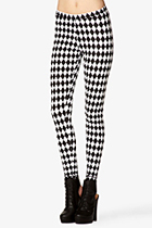 Checkered Leggings Forever 21 $8.80