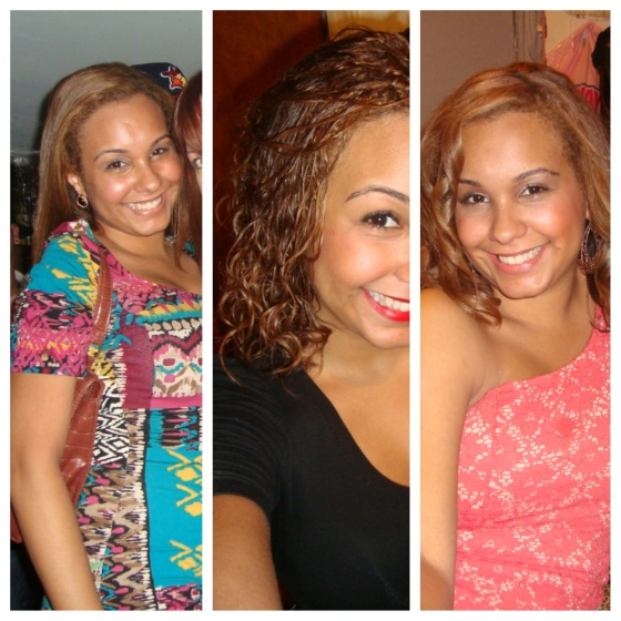 I decided to stop relacing and coloring my hair. Boy was this a hard transition! In these photos you can see the new growth at my roots and the comparison to the rest of the straight hair. My long journey began!