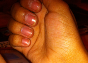 Even during a break from using the product they still retain a little length (my natural nails never even grew to this length before)