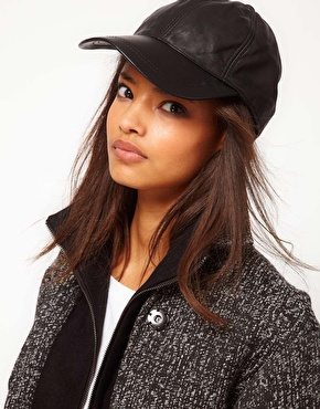 ASOS Close up image of Leather Cap