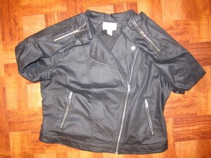 Faux Leather Jacket H&M Plus Size