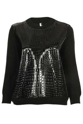 Top Shop - Knitted croc front sweater $96.00