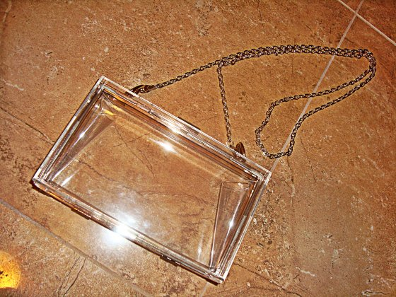 ebay purchase clear bag forever 21 blog post chain link