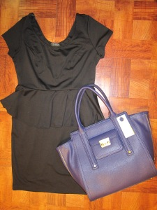 Dressy: Forever21 Peplum dress & Phillip Lim tote