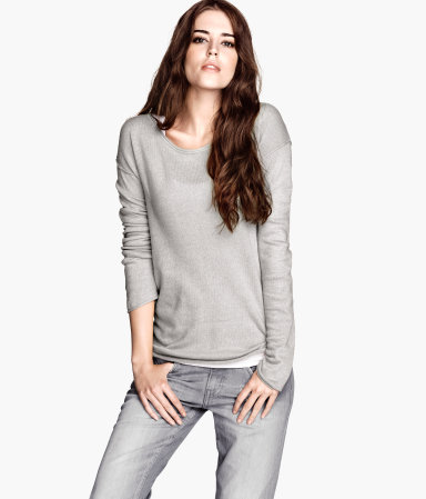At only $12.45 on H&M Website this sweater is perfect alone or D.I.Y'ed with at home embellishments as I did on my target pullover. (See Link Above)