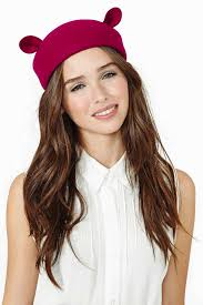Nasty Gal- Little Bear Wool Hat (Berry) $45.00