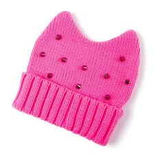 Claires- Studded Knit Beanie with ears $16.50