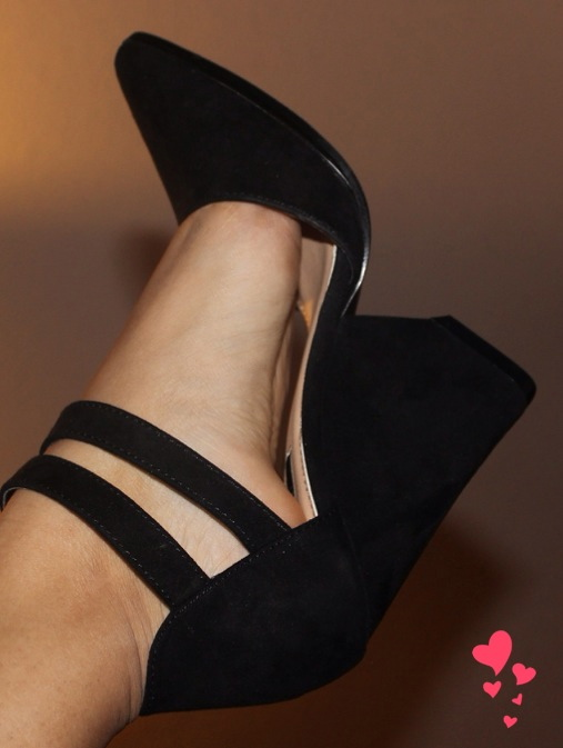 forever 21 black heels wedges