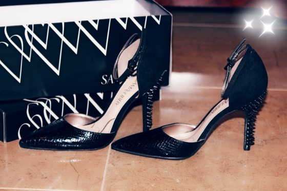 sam edelman, heels, spiky, black, target