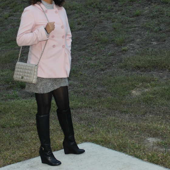 peacoat,pink,jacket,fall,look,post,blog,kate spade, bag, neutral, quilted, handbag