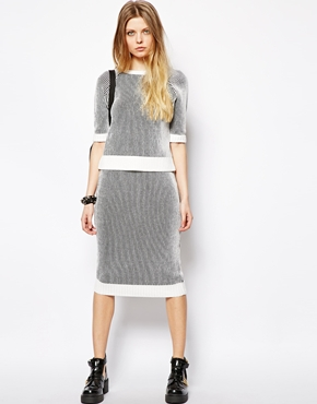 Asos Reclaimed Vintage 90's Rib Top & Tube Skirt Top-$74.08 Skirt- $70.37