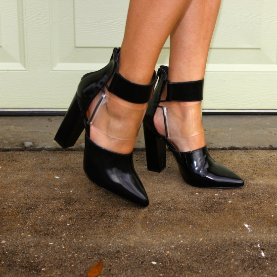 details, faux leather, clear, transparent, plastic, heels, boots, booties, shoecult, nasty gal
