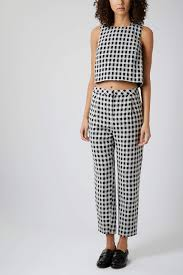 Textured Gingham Top & Trousers Top- $68.00 Trousers- $84.00