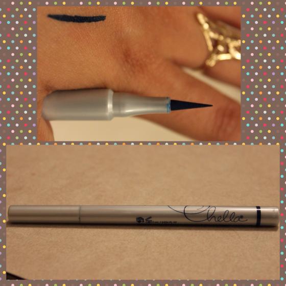 chella,eyeliner pen, indigo blue,