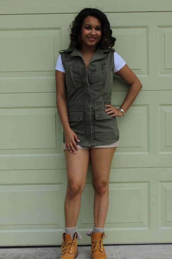 timberlands, girl, cute, ootd, fashion, vest, fashionista, orlando, florida