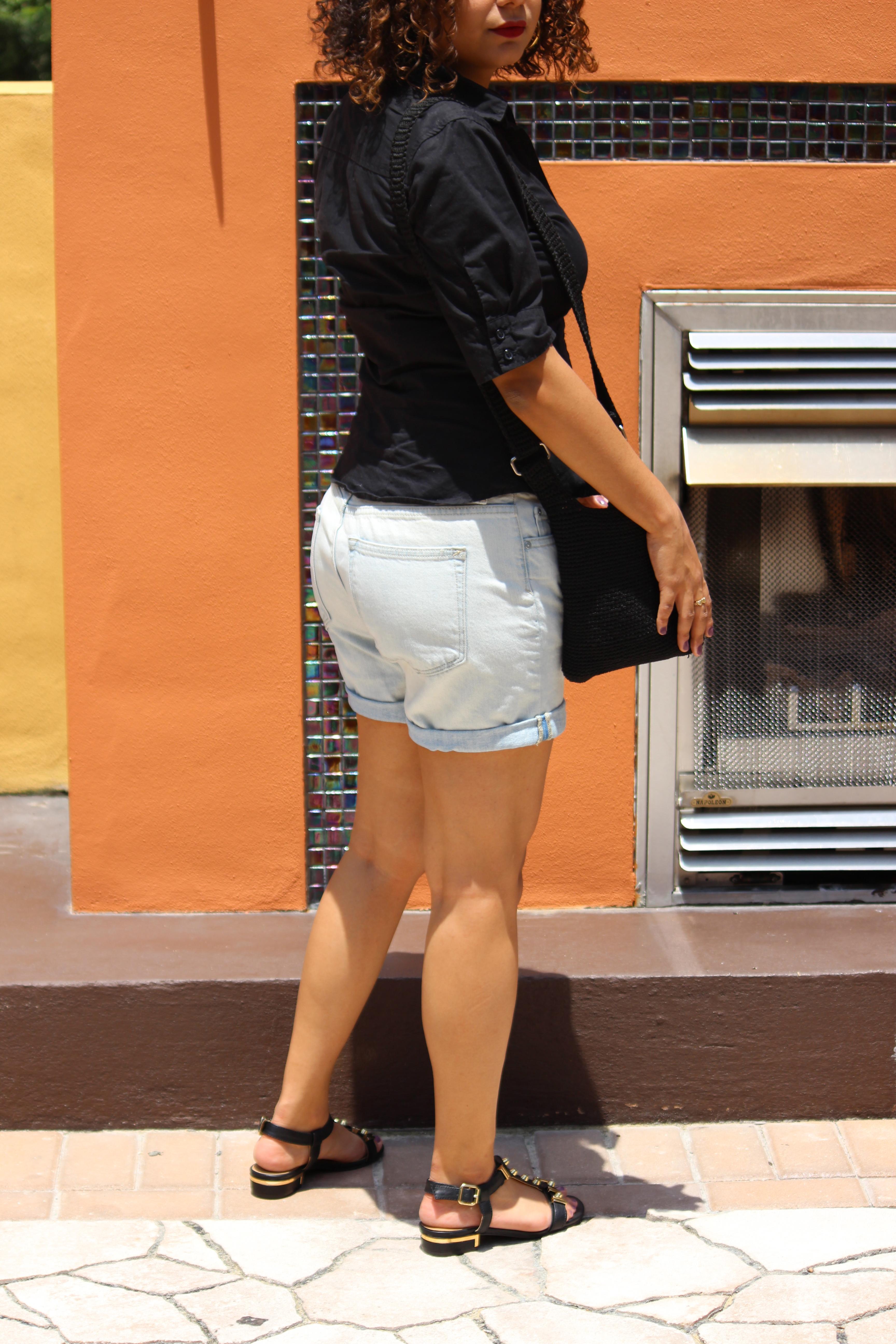 Black sandals gap - Gap Boyfriend Shorts Denim Ootd Sandals Target