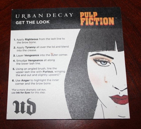 urban decay, pulp fiction, palette, makeup, review, swatches