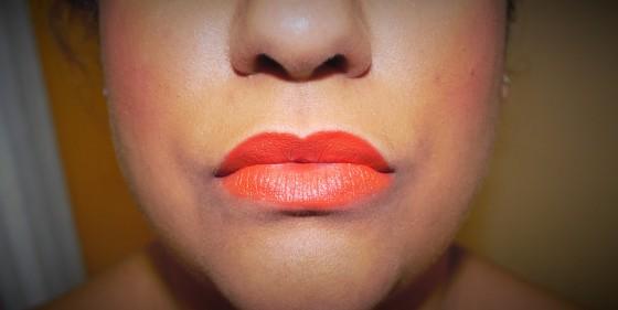 MAC amplified lipstick in Morange