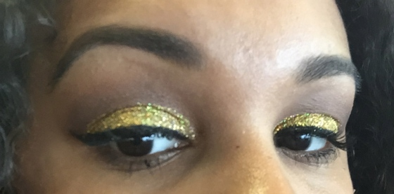 urban decay, nyx, glitter, pigment, cat eye, glitter glue, ucf, college, football, makeup