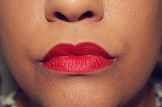 Siren in Scarlet: Cooler tone red