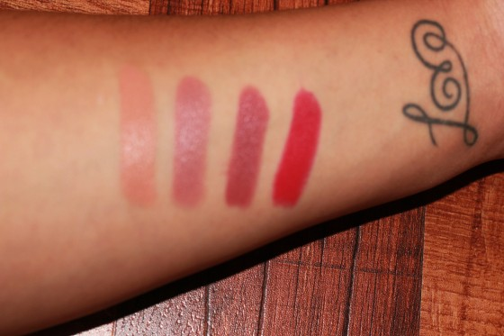 From Left to Right: Peachstock, Viva Glam II, Twig & All fired up