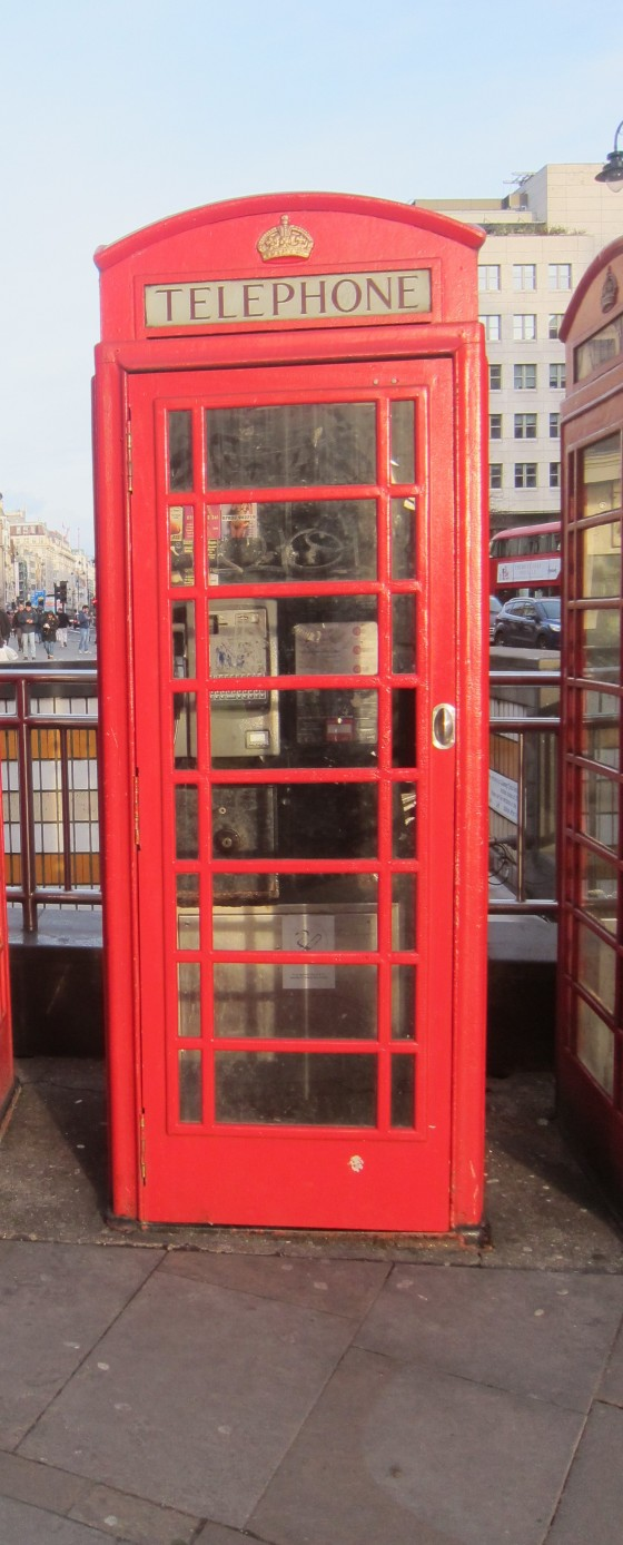 Classic phone booth shot