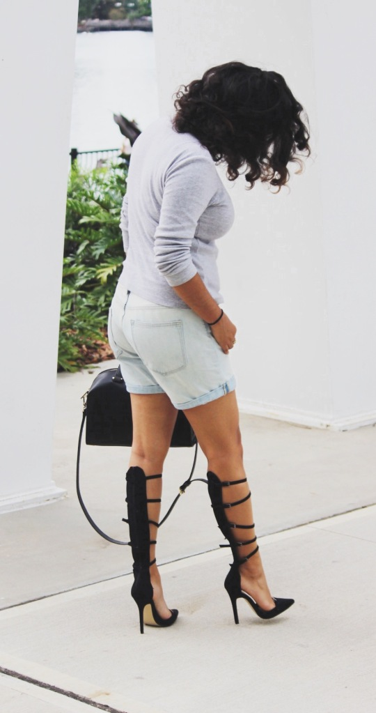 just fab heels, gap boyfriend shorts, kate spade bag, ootd , fashion, orlando