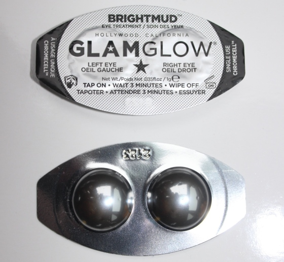 glam glow, bright mud, eye mask, beauty