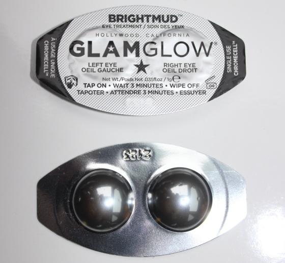 glam glow, bright mud, eye mask, beauty