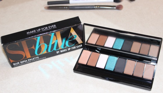 makeup forever, sepia blue palette, eyeshadow, review, makeup, motd, bbloggers, beauty
